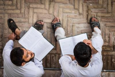Vietējie ticības studenti. Kashan.
