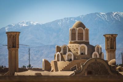 Irānas ēku slavenā vēja tuneļu sistēma. Kashan, Boroujerdi House.
