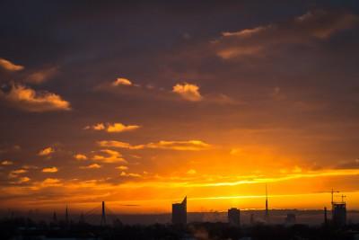 Jaunas dienas sākums Rīgā.