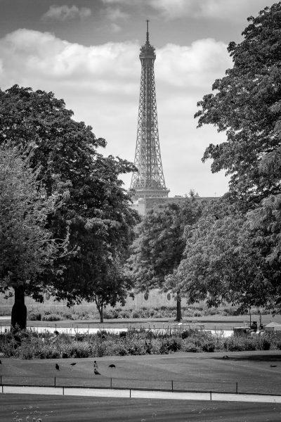Mr Eifelis vienā no miljons perspektīvām. Parīze.
