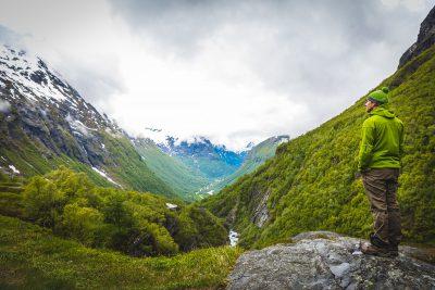 Zaļais zaļā zaļumā. Norvēģija.
