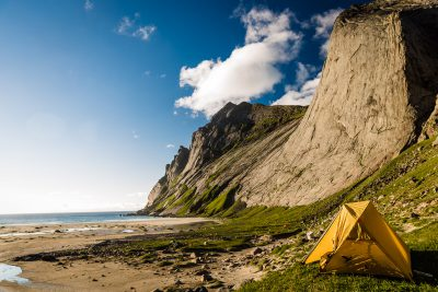 Leiputrija - Bunes pludmale. Norvēģija, Lofotu salas.