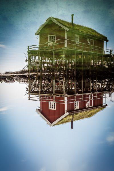 Spoguļošanās. Kam tad tas nepatīk? Norvēģija, Lofotu salas.