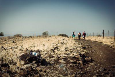 Zavitan navionālā parka taka. Izraēla, Golan Geights.