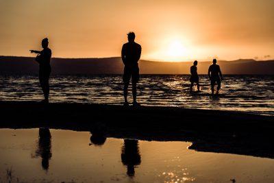 Saulrieta pelde. Izraēla, Galileja jūra.