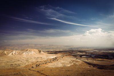 Skatupunkts uz Jordānas upes ieleju. Palestīna, Rietumkrasts.