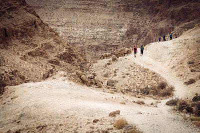 Līdz kanjona sākumam nepilnas stundas gājiens. Izraēla, Wadi Darga.
