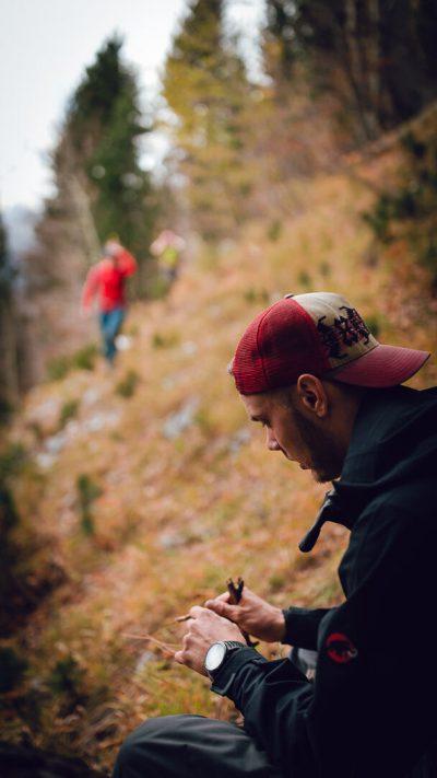 Pārdomu mirklis. Albānija, Valbones ielejas nacionālā parka kalnos.